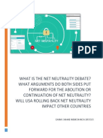 What is the net neutrality debate.docx