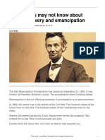 5 things you may not know about lincoln slavery and emancipation  610l