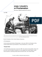 primary sources- lincolns emancipation proclamation  770l
