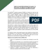 ENSAYO SOBRE LAS AUDITORÍAS INTERNAS DE CALIDAD Y LA IMPORTANCIA PARA LAS PYMES EN COLOMBIA QUE ESTÁN CERTIFICADAS EN UN SISTEMA DE GESTIÓN DE CALIDAD.docx