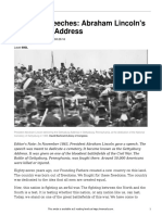 famous speeches- abraham lincolns gettysburg address  600l