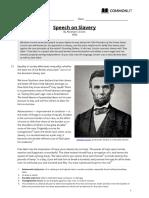 speech on slavery