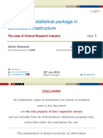 The use of R statistical package in controlled infrastructure. The case of Clinical Research industry. Part I.
