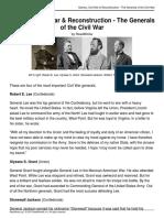 slavery civil war   reconstruction - the generals of the civil war  870l