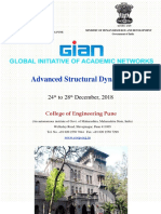 GIAN Course on Advanced Structural Dynamics - 24-28 December 2018