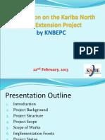 Kariba North Bank Extension Project - Pres.