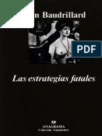 Las Estrategias Fatales Jean Baudrillard
