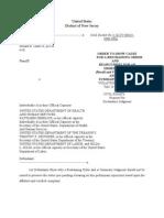 REPLY AFFIDAVIT United States District Court TRO 20101024
