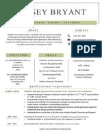 kinsey bryant resume