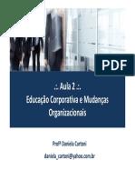 _. Aula 2._. Educação Corporativa e Mudanças Organizacionais. Profª Daniela Cartoni daniela_cartoni@yahoo.com.br.pdf