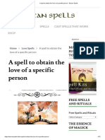 A Spell to Obtain the Love of a Specific Person - Wiccan Spells