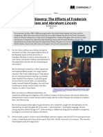 abolishing slavery- the efforts of frederick douglass and abraham lincoln