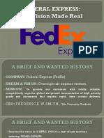 Tqm Case Study- Fedral Express