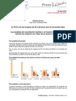 INE - Fertilidad en España 2018