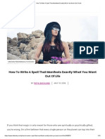 How to Write a Spell That Manifests Exactly What You Want Out of Life
