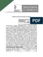 Modelo Escritura Partilha Inventário Extrajudicial 2016