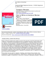 How to Write a Literature Review Paper?