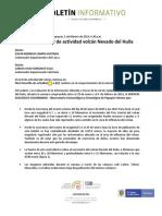 Boletín Semanal de Actividad Volcán Nevado Del Huila Del 29 de Enero Al 4 de Febrero de 2019