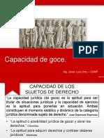 13. P&P - CAPACIDAD DE GOCE - ESTATUS JURÍDICO - SURGIMIENTO DE LA PERSONALIDAD JURÍDICA.ppt