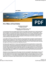 Five Pillars of Food Safety