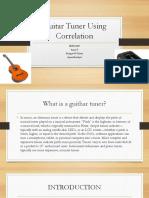Guitar Tuner Using Correlation