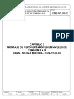 Montaje de Reconectadores en Niveles de Tensión II Y III - Norma Técnica - CNS-NT-03-01