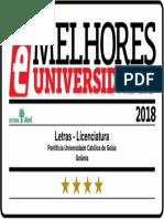 Melhores Universidade - Letras e Literatura