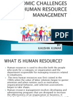 Economic Challenges in Human Resource Management
