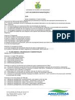 Lista de Exercícios Manutenção 1