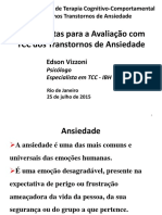 Ferramentas Para a Avaliacao Com TCC Dos Transtornos de Ansiedade Parte01 Edson Vizzoni IBH Julho2015