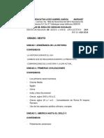 Contenido Del Area de Sociales de La Nstitucion Educativa Liceo Gabriel Garcia Marquez