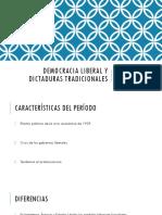 DICTADURAS TRADICIONALES