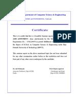 Certificate Acknowledgement Viruses and Antivirus