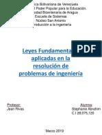 Leyes Fundamentales aplicadas en la resolución de problemas de ingeniería