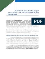 Mudanças na Paisagem do Brasil após a Industrialização