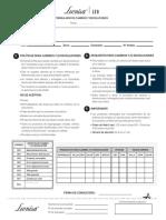 formulario de cambios en peru