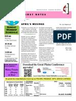 0419 Newsletter