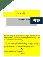 ALGORITMO P=NP