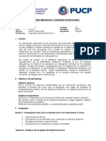 Sílabo Dinamica Estrutural 2019-1