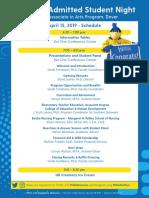 ADM AdmittedStudentNight 2019 Agenda Dover v2