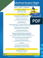 ADM AdmittedStudentNight 2019 Agenda Georgetown v2