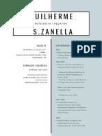 CV/Portfolio -  Guilherme S Zanella - 2019