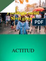 PPt. Psicología Social. Nivel Grupal