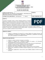 Plano Da Disciplina Metodologia Da Pesquisa Sociojuridica - Epistemologia- Metodos e Didatica No Ensino Juridico