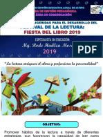 2019 Estrategias para el Festival de La Lectura UGEL Satipo