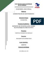 REPORTE DE INVESTIGACION PAPEL DE MANTTO INDUSTRIAL.docx