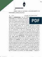 Oficialización del FPV