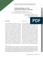 Las Políticas Públicas y Su Visión de La Economía Social y Solidaria en Argentina