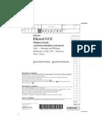 EdExcel a Level Greek Unit 1 Paper 1 May 2007