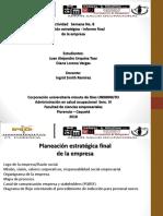 Informe de Planeación Estratégica de de Nuestra Empresa VARGAS&URQUINA S.a.S. Estudiantes UNIMINUTO Florencia Caquetá